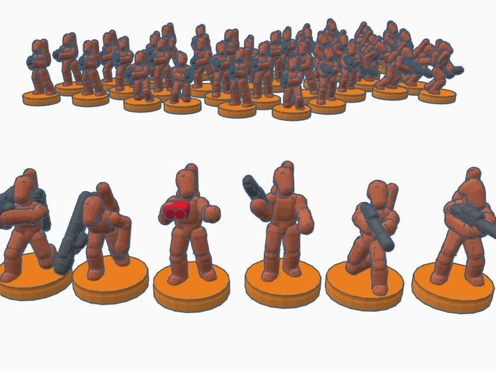6mm B1 Command and Specialists X30 3d printed