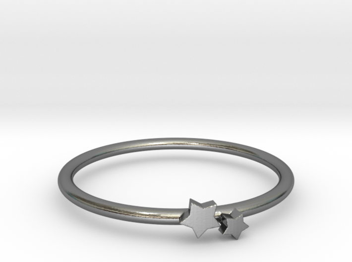 Twin Star Ring (Multiple Sizes) 3d printed