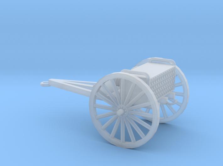 1/100 Scale 3 Inch Gun Caisson M1916 3d printed
