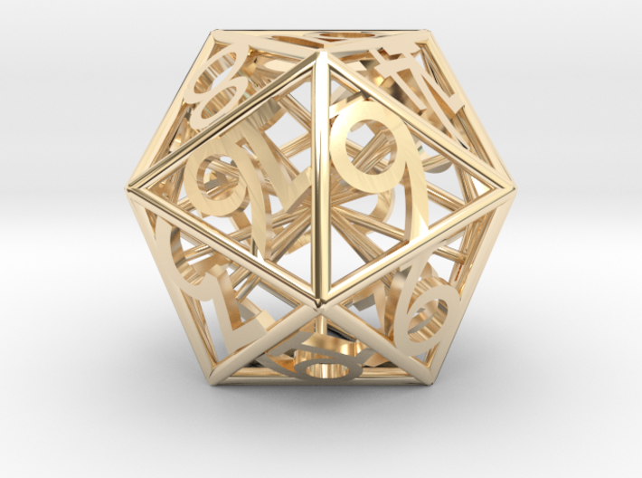 D20 Balanced - Numbers Only 3d printed