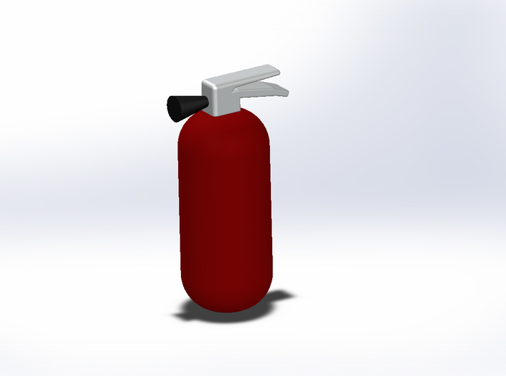 1:10th scale fire extinguisher 3d printed