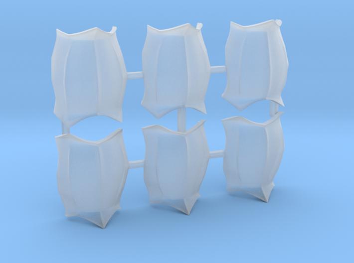 6x Flesh Eater Breastplate 3d printed