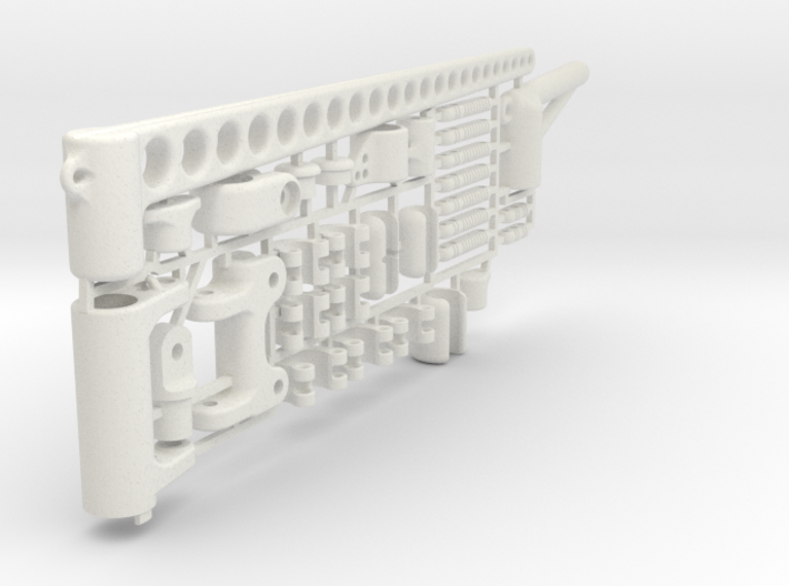 "MicroMagic RIG SET ""6 mm mast"" 3d printed"