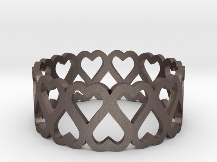 heart symmetric ring size 6.5 3d printed