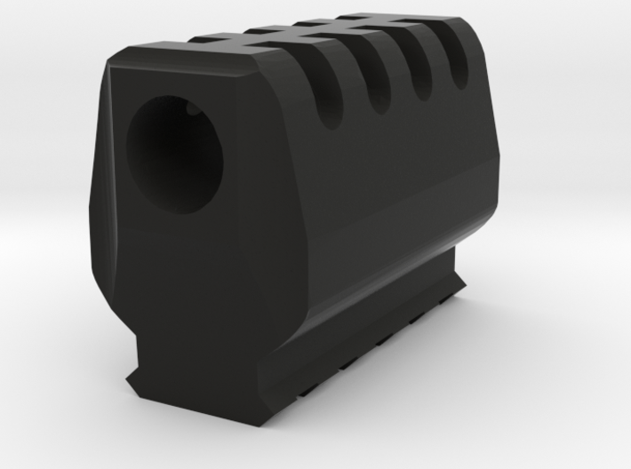 J.W. Airsoft Compensator V2 (14mm Self-Cutting) 3d printed