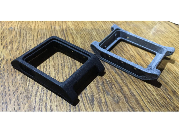 Pebble 2 Smartwatch Replacement Case 3d printed Black professional plastic and Grey professional plastic