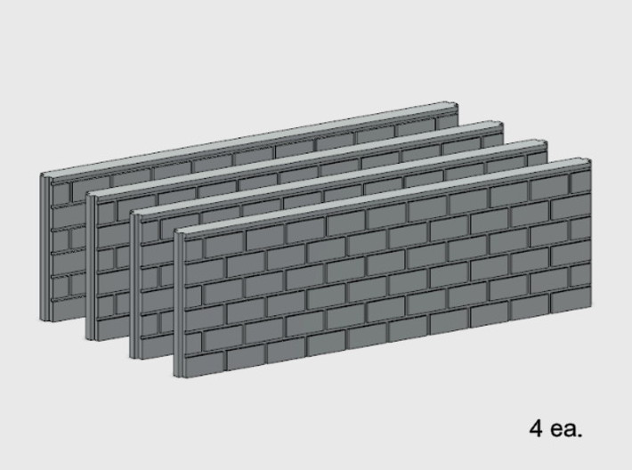 5' Block Wall - 2-Long Jointed Splices 3d printed Part # BWJ-021