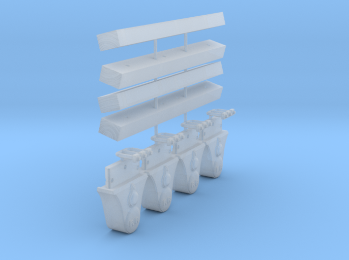 AC01 - Wooden Bearers and Axlebox Set for Slab Wag 3d printed