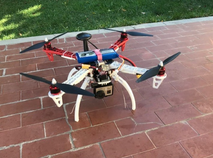 GPS+Compass module support for drones 3d printed