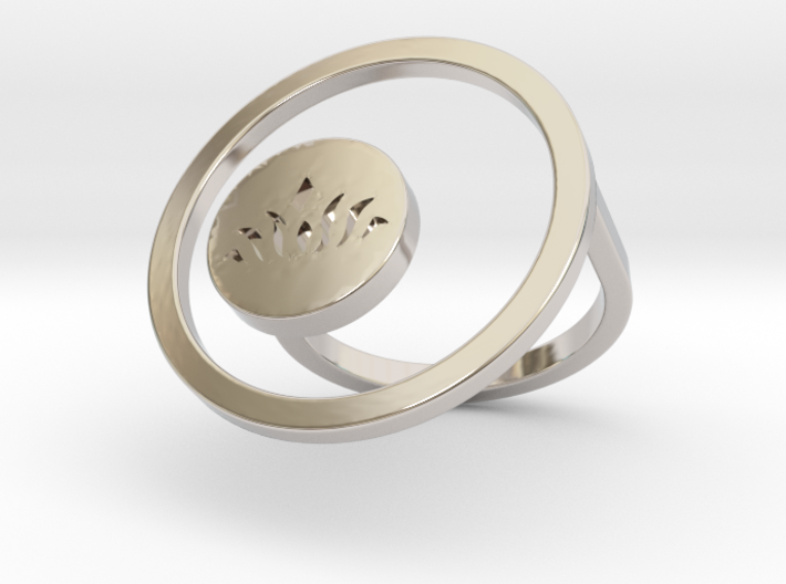 Lotus Ring Within - Size 6 ONLY 3d printed