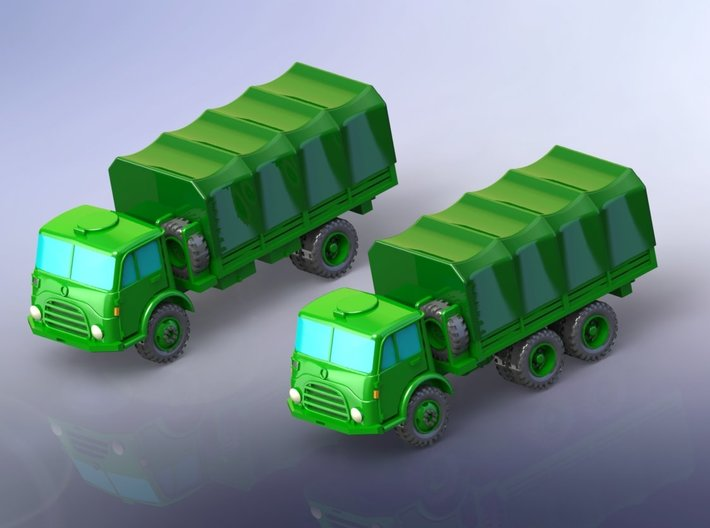 Steyr 680 4x4 and 6x6 Trucks 1/220 3d printed