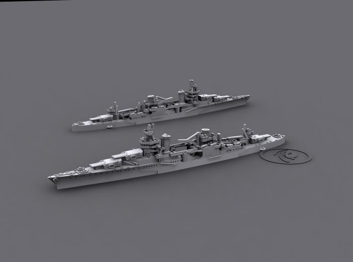 1/1800 US CA35 Indianapolis[1942] 3d printed Computer software render
