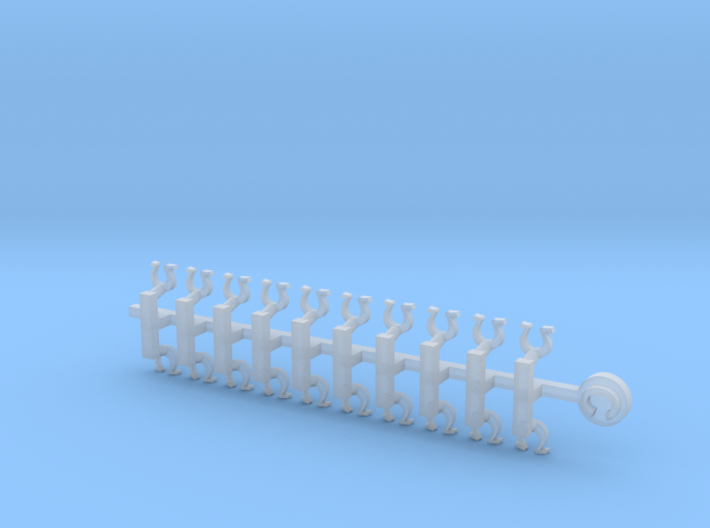 20x Horseshoe: Small Concave Insignias  3d printed