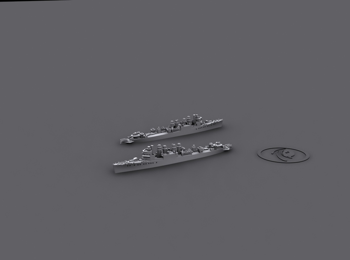 1/1800 Town-class Destroyers [UK;1943] (x6) 3d printed Computer software render