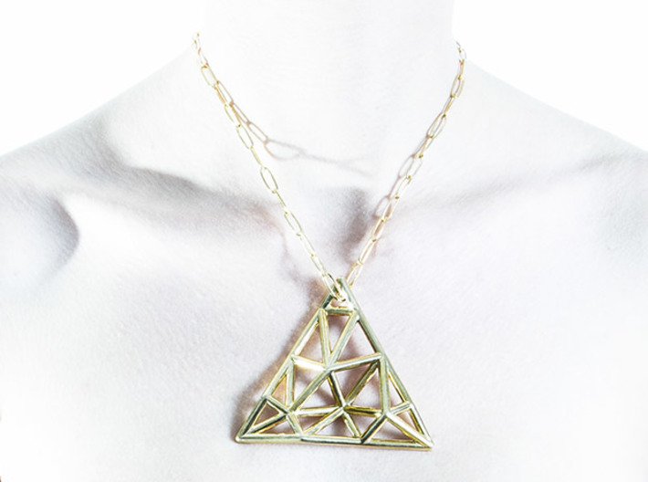 Tessellate Pendant — DATA IN EXILE 3d printed As worn.