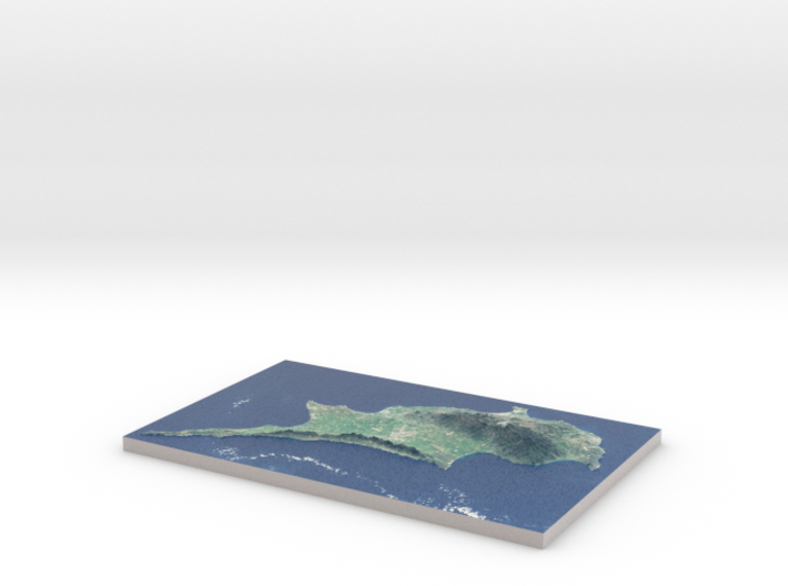 """Cyprus Raised Relief Map: 8.5""""x13.5"""" 3d printed"""