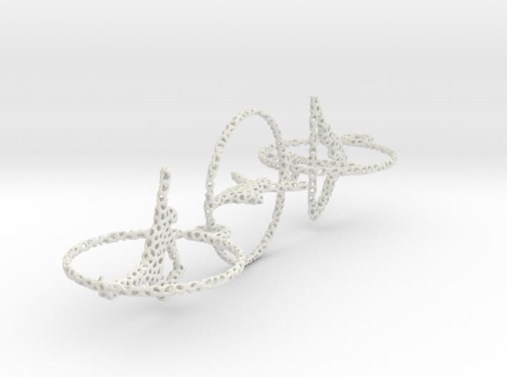 Three voronoi yoga earring pendant 3d printed