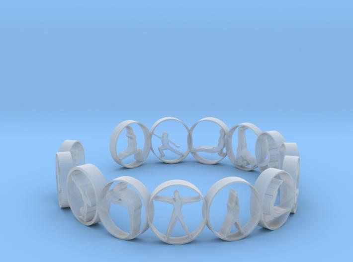 Yoga bangle 57.2 mm 3d printed