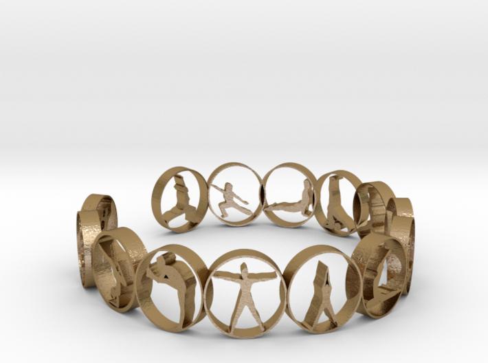 Yoga bangle with 14 poses 70mm 3d printed