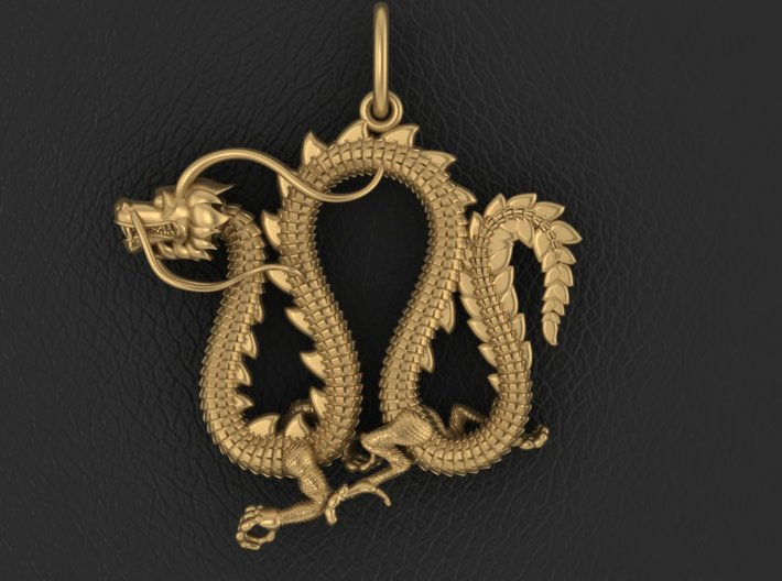 Dragon pendant # 4 3d printed Add a caption...