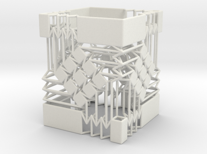 Square Wire Tube With Tessellation Single 3d printed