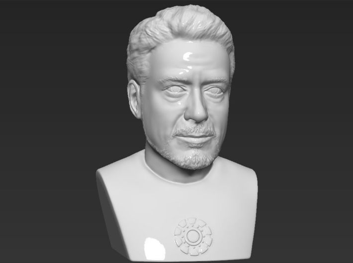 Tony Stark Iron Man bust 3d printed