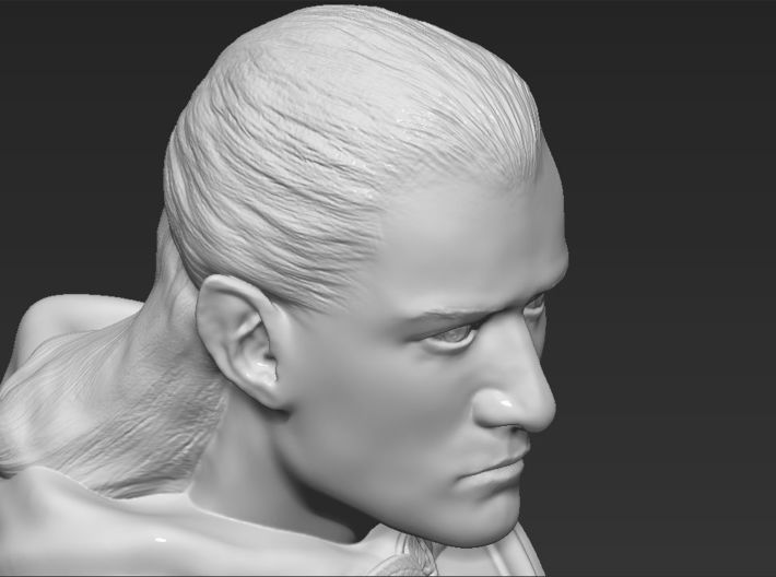 Legolas from the Lord of the Rings bust 3d printed