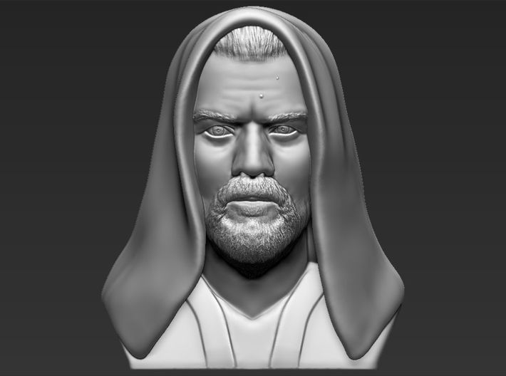 Obi Wan Kenobi bust from Star Wars 3d printed