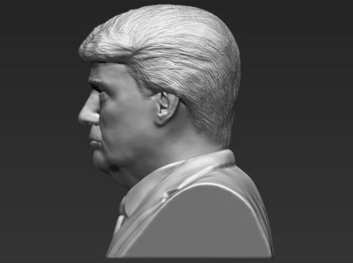 President Donald Trump bust 3d printed