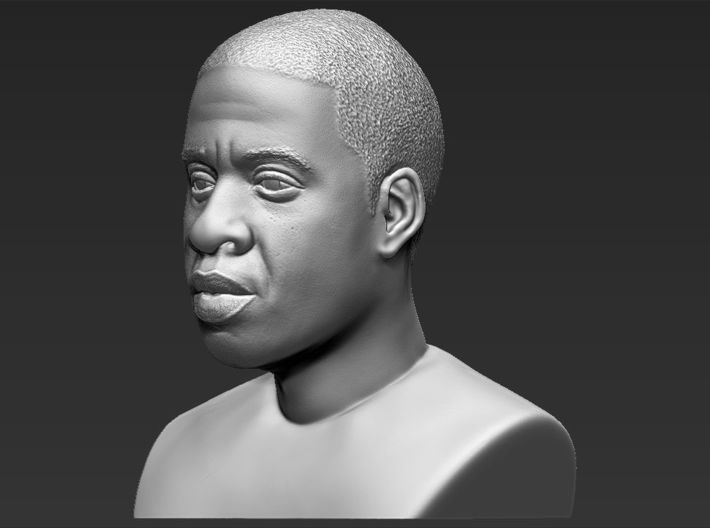 Jay-Z bust 3d printed