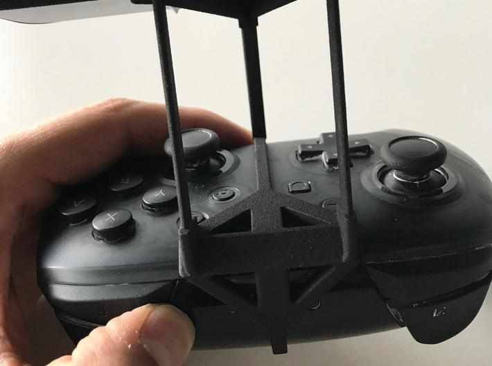 Nintendo Switch Pro controller & Nokia 4.2 - Over  3d printed Nintendo Switch Pro controller - Over the top - Back View