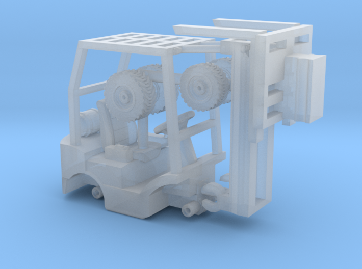 1-87 Scale Mini Forklift 3d printed