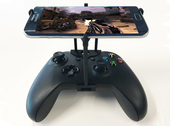 Xbox One S controller & LG V50 ThinQ 5G - Over the 3d printed Xbox One S UtorCase - Over the top - Front