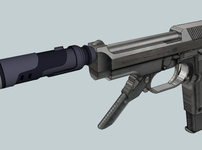 Vanquish Sniper Silencer (Hollow 14mm-) 3d printed