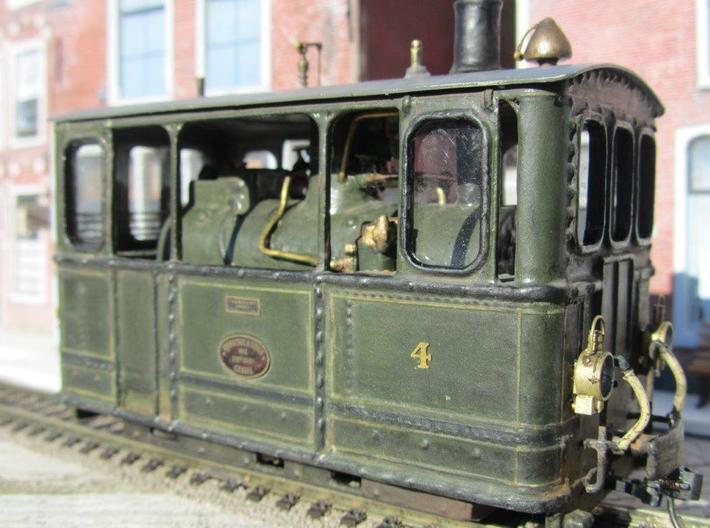Gooische Stoomtram 18 'Leeghwater' in 1:45 3d printed Painted with some modifications