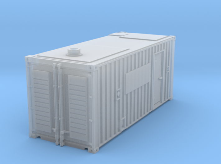 N scale container with generator 3d printed