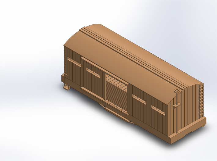 USMRR ARMORED BOXCAR 3d printed DOORS DO NOT MOVE