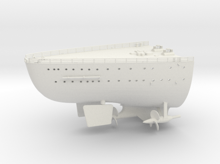 Best Cost 1/200 DKM Bismarck deck stern 3d printed