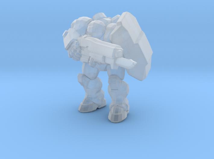 Starcraft 1/60 Terran Marine with shield & bayonet 3d printed