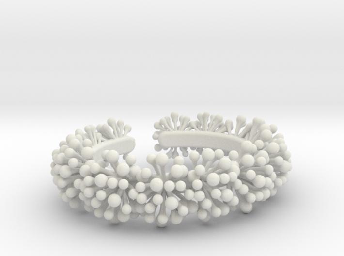 Snow Blossom Bracelet 3d printed