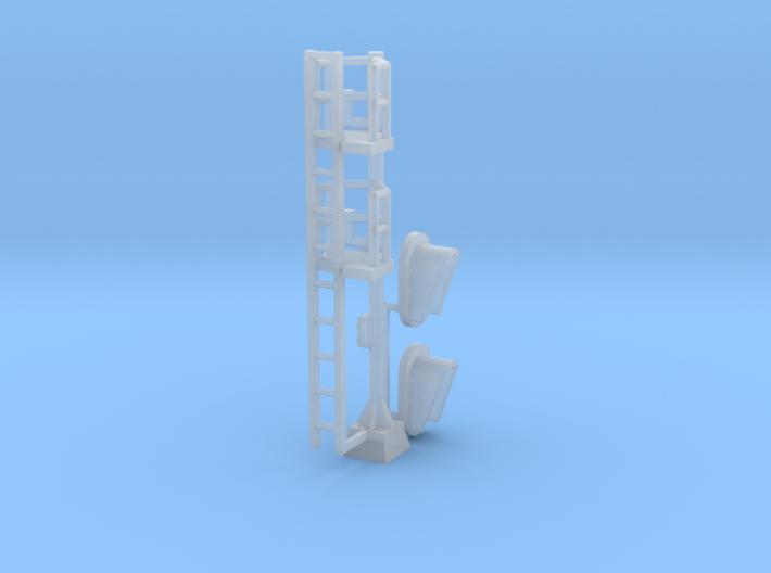 N Modern Signal Mast 2 heads 3d printed