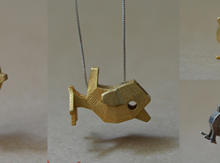 LaBird 30MM 3d printed 30mm LaBird in Gold Steel. Attachment material NOT included.