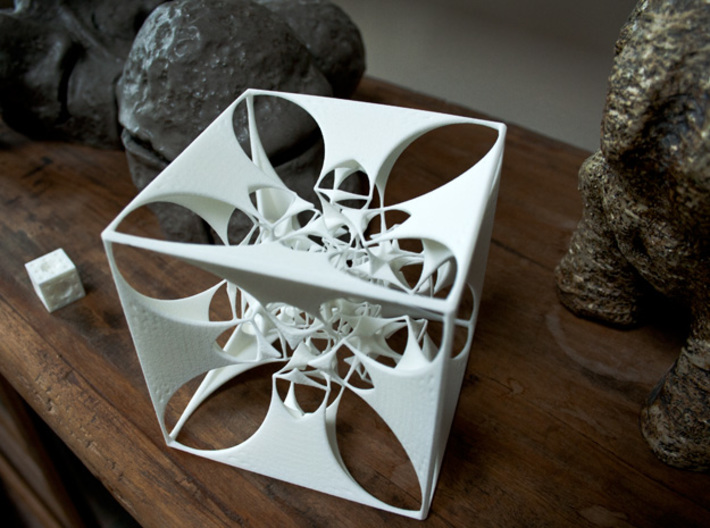 the Divine Sailor (imploding to infinitesimality) 3d printed Together with my ceramic sculptures