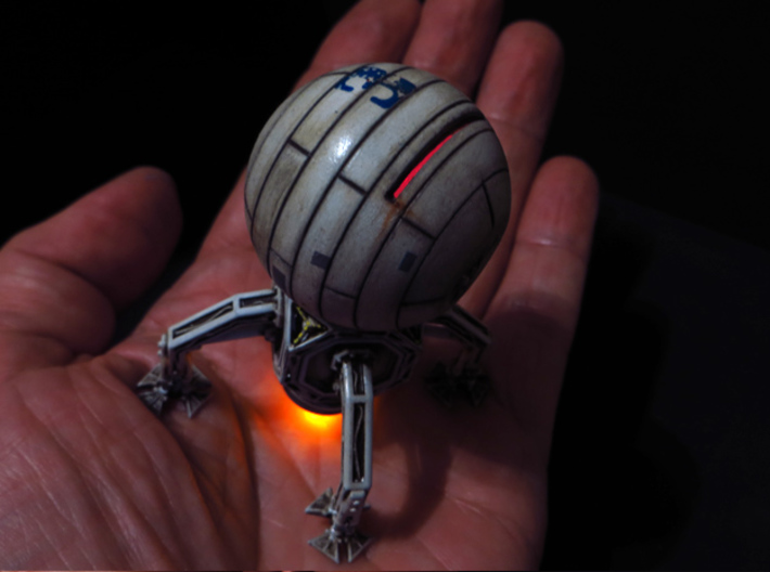 BYOS SHIP 3 3d printed Model cleaned, painted and assembled.