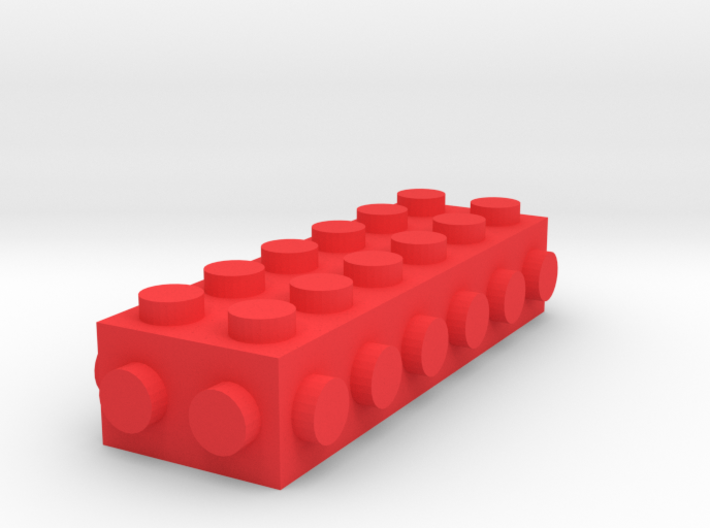 Custom LEGO-inspired brick 6x2 3d printed