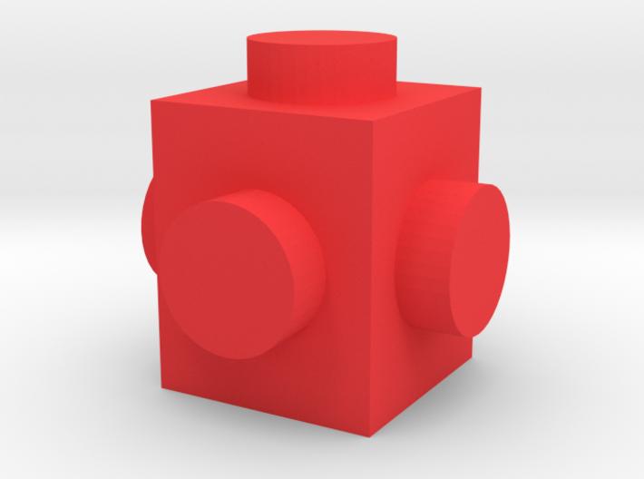 Custom brick 1x1 for LEGO 3d printed