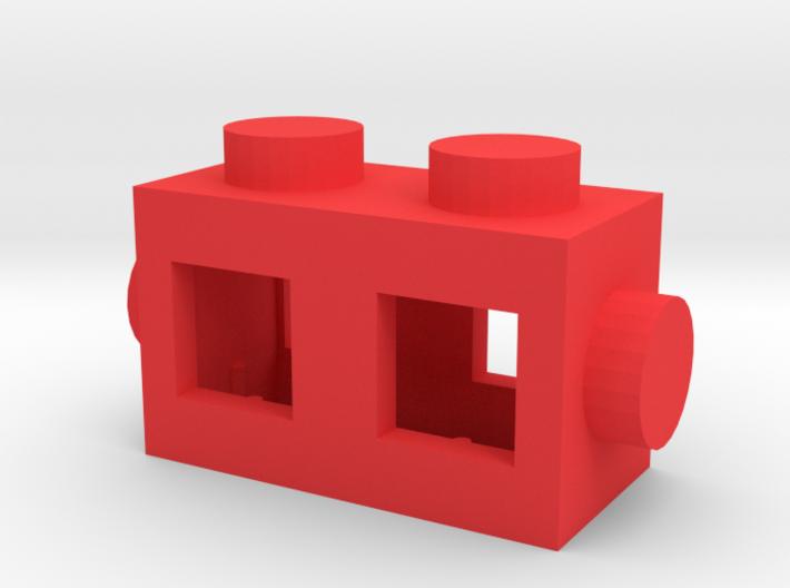 Custom brick 2x1 for LEGO 3d printed