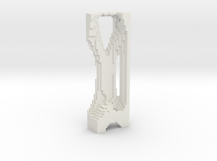 M069_Pixle Tower 3d printed