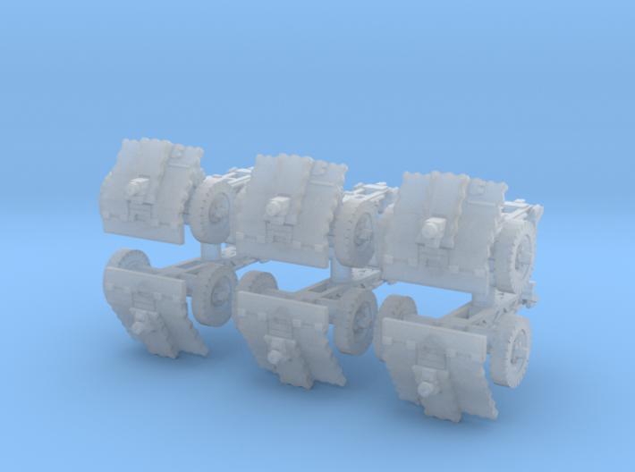 LeIg 18 support gun (6 pieces) 1/200 3d printed