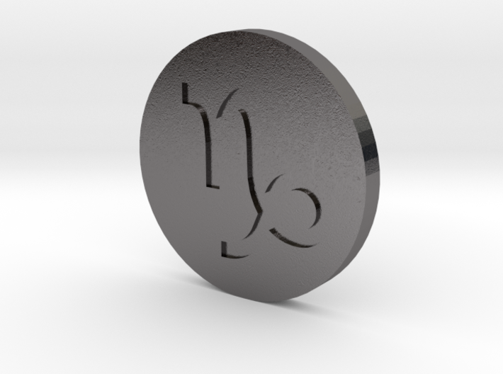 Capricorn Coin 3d printed